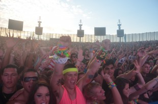 The crowd screams its approval during the Bingo Players set at the 2012 Identity Festival.