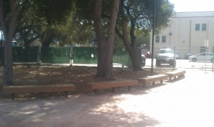 New benches are part of the overall construction plan for the football entrance, and will be debuted as part of Paly&#039;s game against Archbishop Mitty High School on Friday.