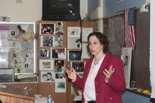 Law professor Pam Karlan addresses Paly students over various civil rights topics.   Her impressive resume includes the founding of the Stanford Law School Supreme Court Litigation Clinic and working as a law clerk to Justice Harry A. Blackmun of the Supreme Court.
