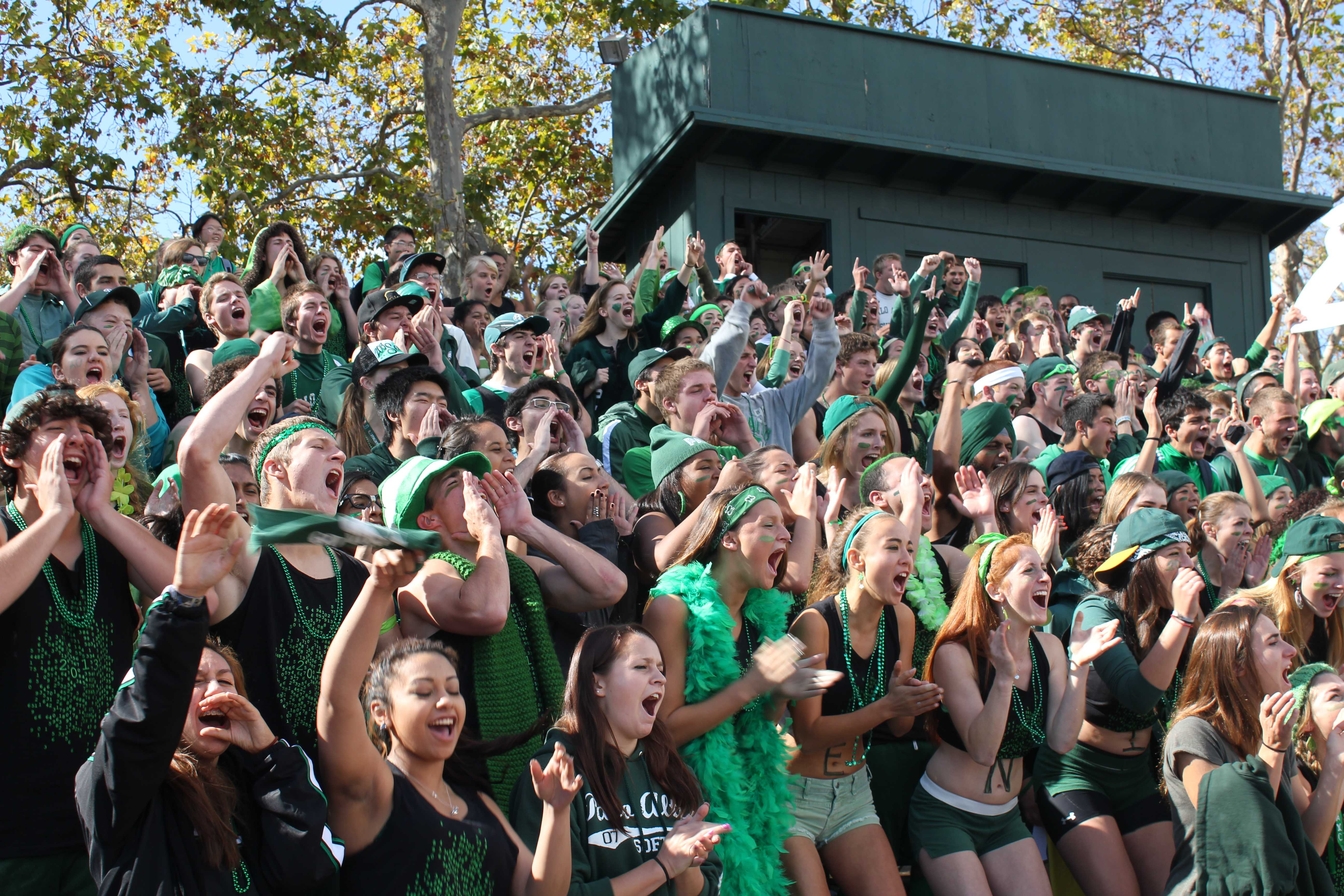 The class of '13 showed shows their spirit during the lunch rally on Wednesday. [Photo by Phoebe So]