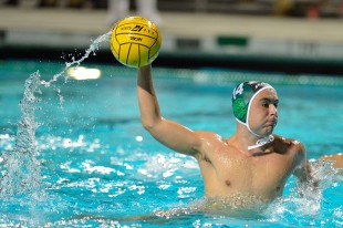 Senior Bret Pinsker rockets a penalty shot during Paly&#039;s game against Los Altos High School on Senior Night Tuesday.  Pinsker&#039;s shot was blocked by the goalkeeper.  Photo by Matt Ersted.