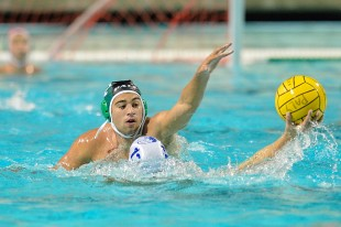 Quinn Rockwell defends a player in Paly&#039;s game against Los Altos High School on Senior Night Tuesday.  Photo by Matt Ersted.