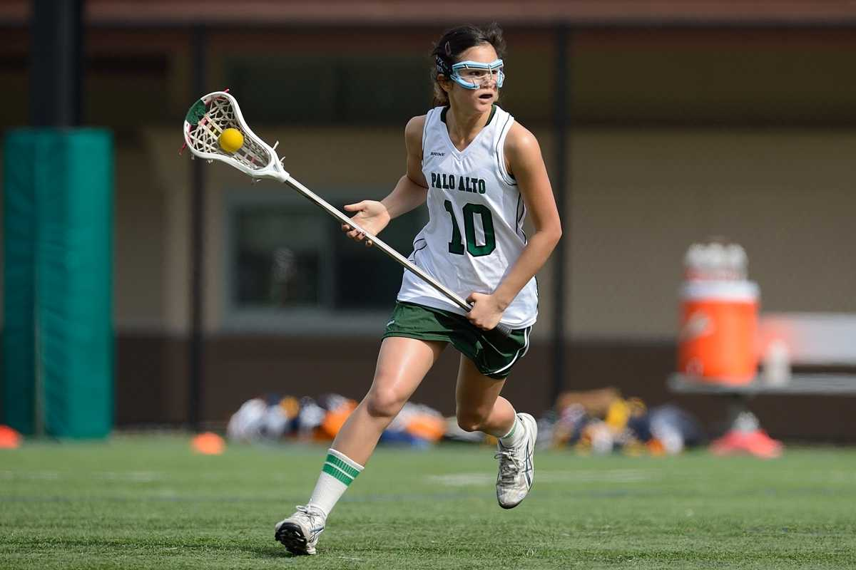 Sophomore Claire Chevallier looks downfield in the second half of Paly's victory over Oak Ridge High School on Saturday.  Photo by Matt Ersted.