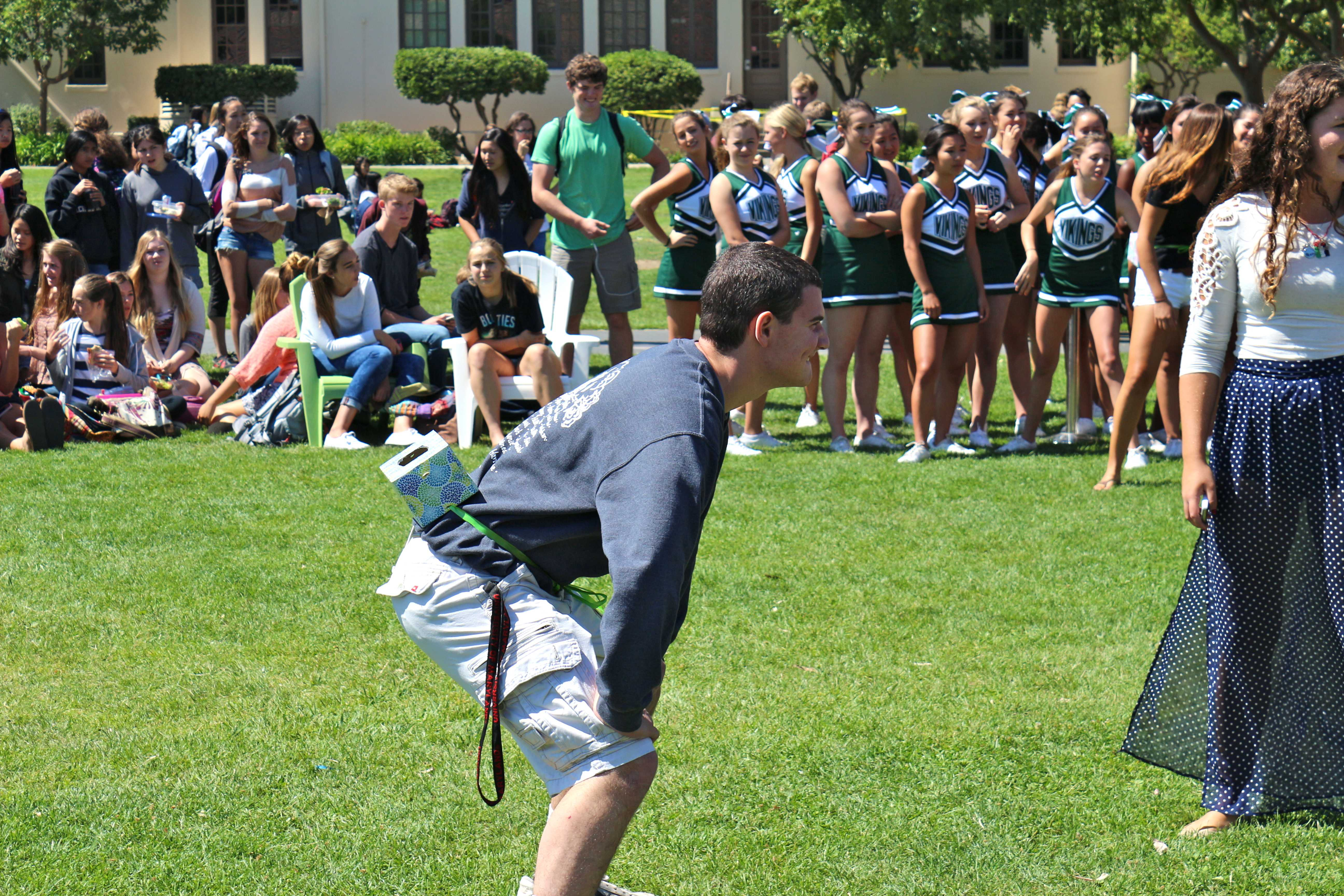 "Senior Hillel Zand ('14) readies himself to play ""Junk in the Trunk"". Photo by Frankie Comey"