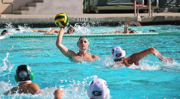 Senior JJ Kadifa looks to throw the ball to one of his teammates. Palo Alto High School plays Los Altos today in their last game before the league tournaments.