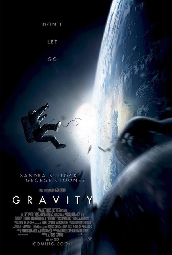 Bullock and Clooney have the audiences' heads spinning through their unimaginable journey. Gravity is a story about the physical and mental strain in the goal of doing anything to stay alive. Photo by Warner Brothers.