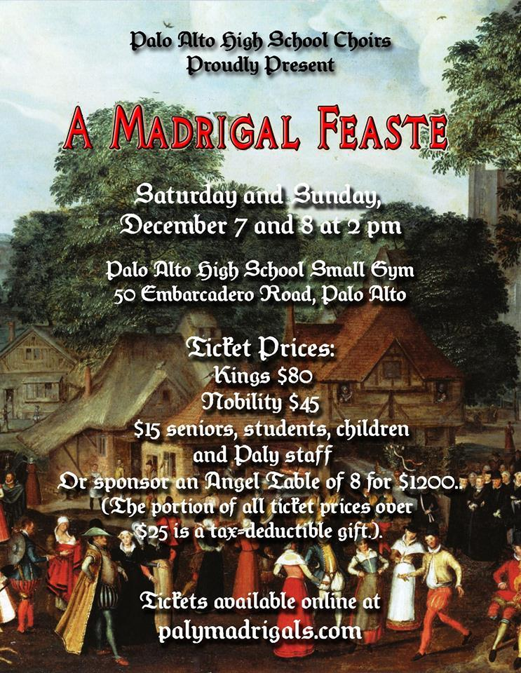 This year's Madrigal Feaste is to take on a reality TV show themed twist.