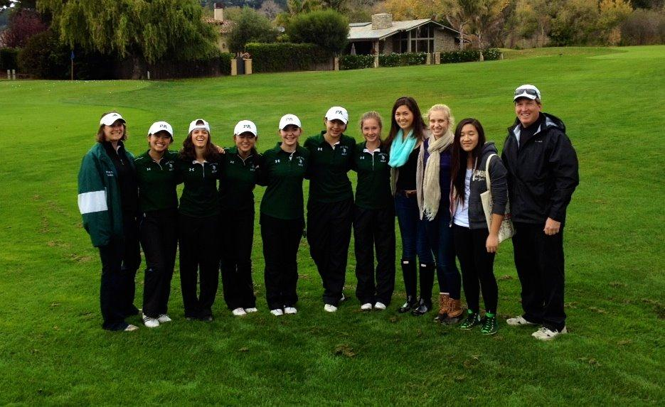 The Paly girls golf team poses during a November match. Photo provided by Olivia Johnson.