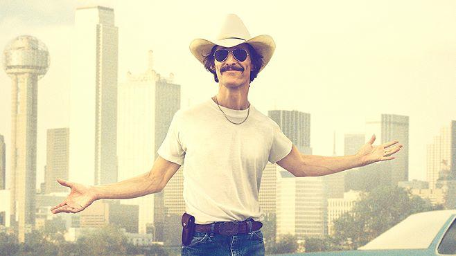"Cowboy AIDS Victim Ron Woodroof, played by Matthew McConaughey, dares to live after being given 30 days to live in ""Dallas Buyers Club"""