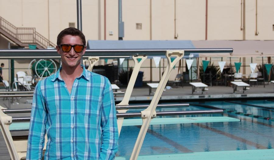 Palo Alto High School alum Jordan Zenger is officially the diving team's new head coach. Zenger volunteered as coach last season and swam for the Paly diving team from his sophomore to senior years and for Stanford Diving Club team. Zenger hopes for a strong 2013-14 season. Photo by George Lu.