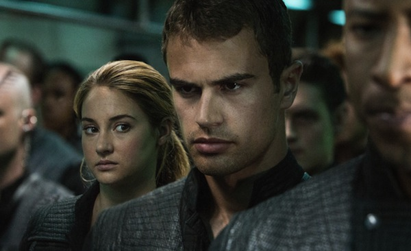 Tris (Shailene Woodley) and Four (Theo James) star in Divergent. Photo courtesy of Summit Entertainment.