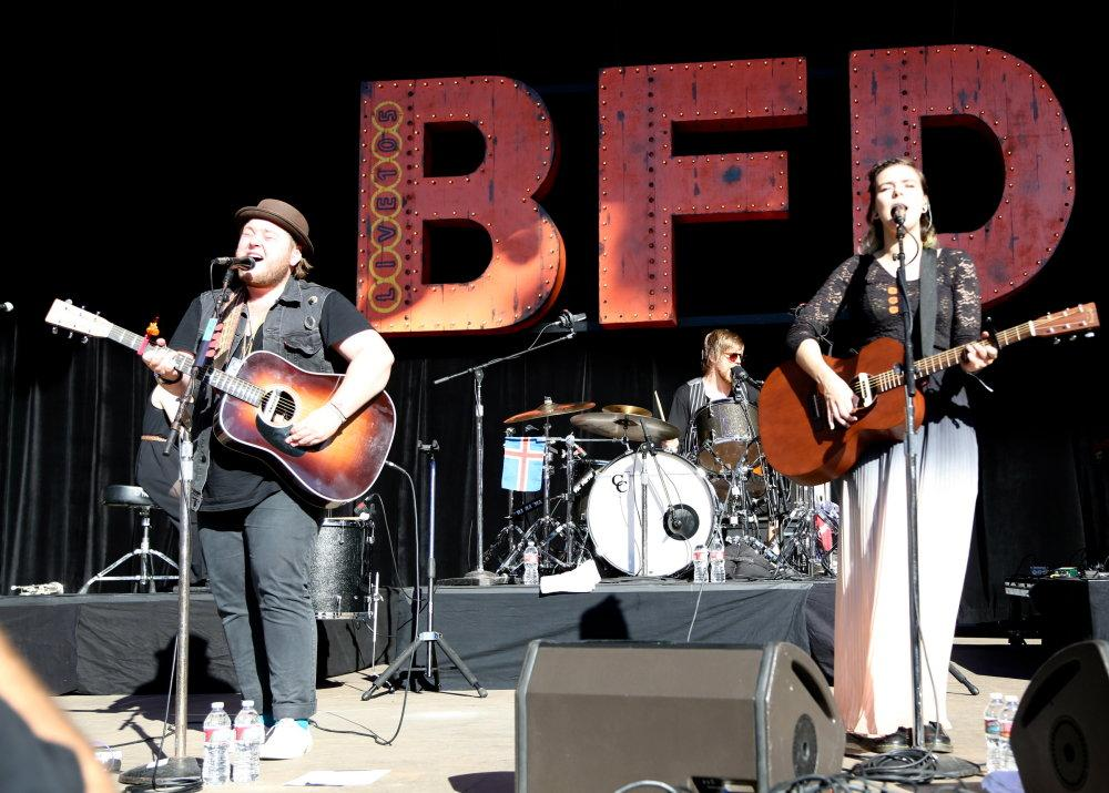 Of Monsters and Men perform their new single, 'Little Talks' at BFD 2013. Photo by Cathy Rong.