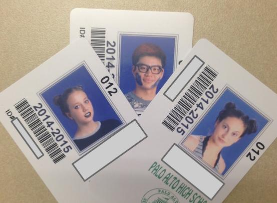 The beautiful ID cards of Paly Seniors