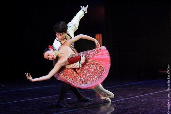 Jennifer Wang dances a pas de deux in the City Ballet of San Francisco's Spring Showcase 2011. Photo by Alexander Reneff-Olson.