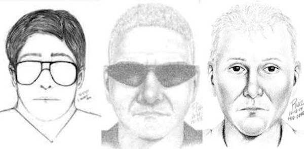 "Three different sketches drawn by the Palo Alto Police Department as told by three different victims. ""By releasing sketches of the suspect, we hope that someone will recognize the person and give us a call with a tip,"" Lt. Zach Perron said. Screenshots of PAPD sketches by Amy Leung."