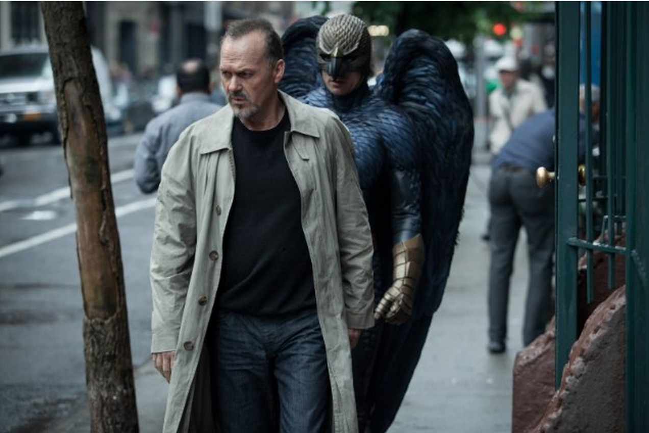 "Riggan Thomson (Michael Keaton) being closely followed by his alter-ego, Birdman. ""Birdman"" has been nominated for nine Academy Awards, including Best Picture. Photo courtesy of © 2014 - Fox Searchlight"