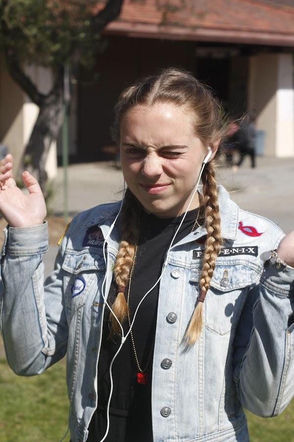 Junior Tessa Barry shares her favorite songs with The Paly Voice. Photo by George Lu.