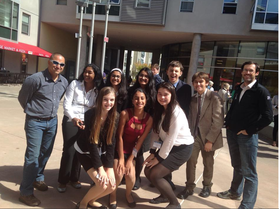 Palo Alto High School's Model United Nations club poses for a picture at the Inter-Generational MUN conference last September. This was the club's first conference of the year.