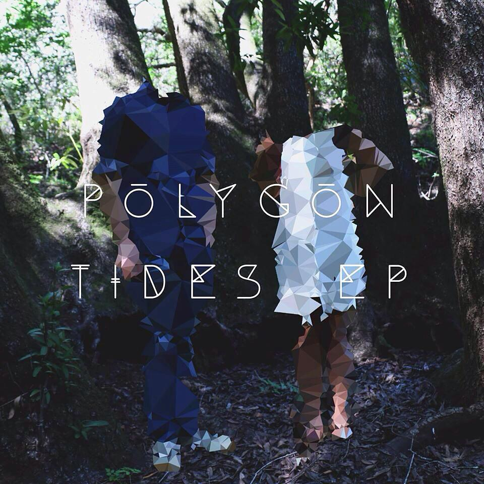 "The album artwork for ""Polygon Tides EP"" features geometric distortion set against a forest backdrop. Artwork courtesy of Paper Islands."