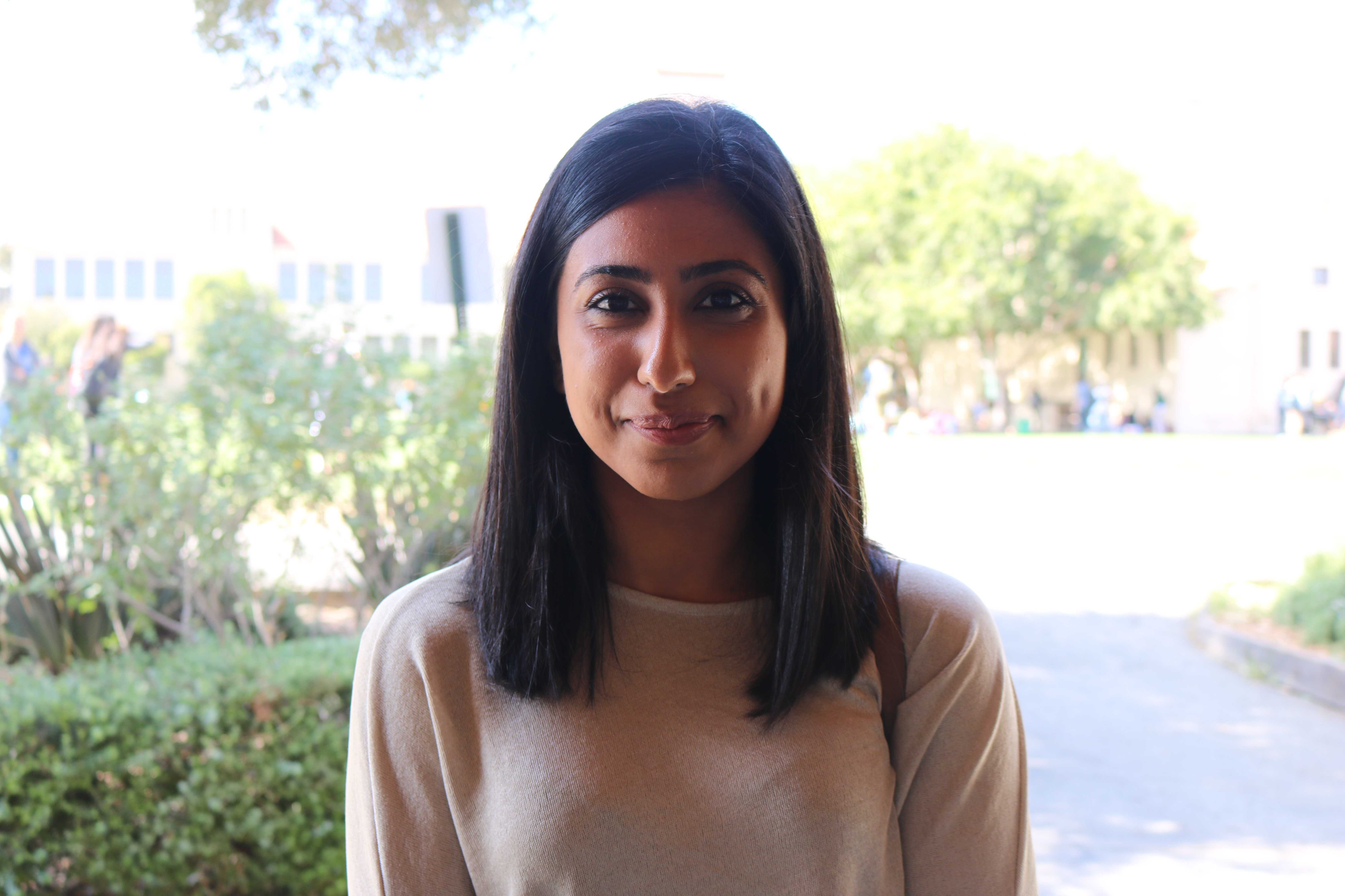 "Senior Alisha Kumar. ""I love taking pictures in San Francisco,"" Kumar said. ""It's something I like to do for fun."" Photo by Emma van der Veen."
