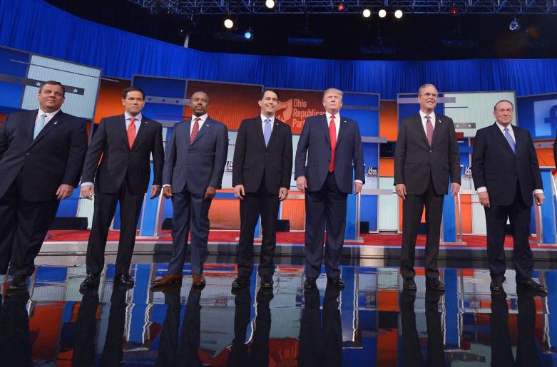 Republican presidential candidates will go head to head at tonight's debate on Fox.  Photo courtesy of Fox News.