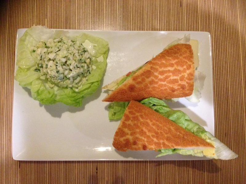 """The """"California Fresh"""" is one of the restaurant's signature sandwiches. Photo by Daniel Li."""