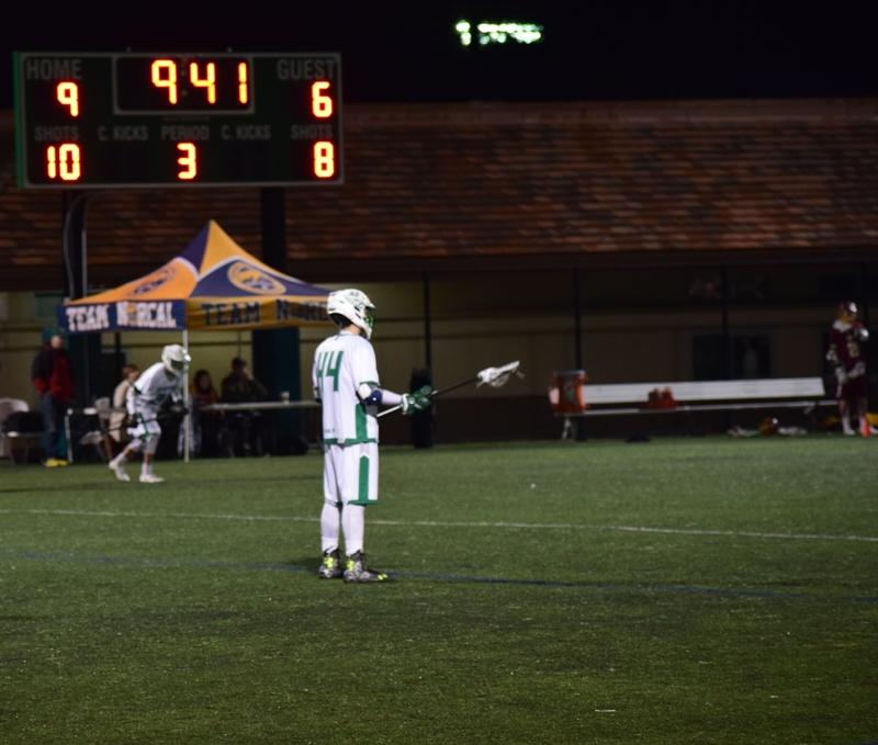 The Vikings lead Menlo 9-6 as junior defender Christian Rider watches from the half. Photo by Jackson Doerr