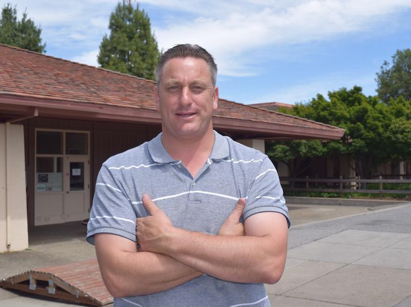 Jack Kearns, Palo Alto High School's new AP Environmental Science teacher, has an extensive background in ecology. He worked for the Environmental Protection Agency and as a wildlife biologist prior to teaching.  Photo by Dhara Yu.
