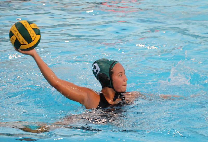 Junior Hollie Chiao passes the ball late in the third quarter during a season game at Gunn High School. The Vikings ended their season after being eliminated from the second round of the CCS tournament against Leland High School on Nov. 5. Photo by Sam Lee.