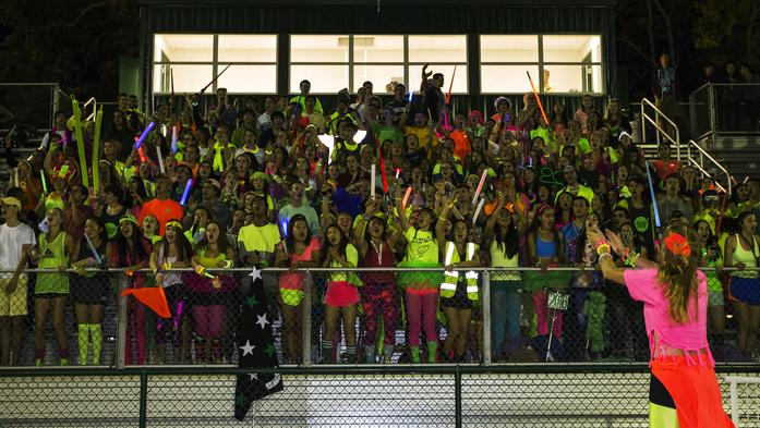 Last year's Spirit Week night rally marked the first ever event of it's kind. Students cheer in the stands and competed in various activities, ASB strives to launch the second annual night rally this coming October.