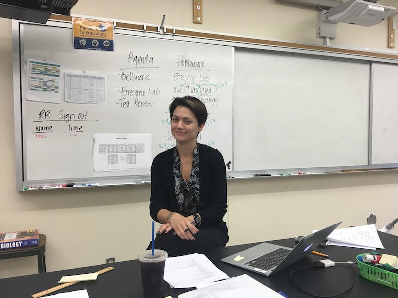 Biology teacher Tara Verekyen in her classroom. Photo: Daniella Maydan