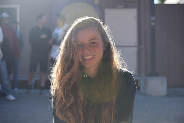 Freshman Sofie Vogel is a first-year Varisty girls' soccer player. Photo: Emma van der Veen.
