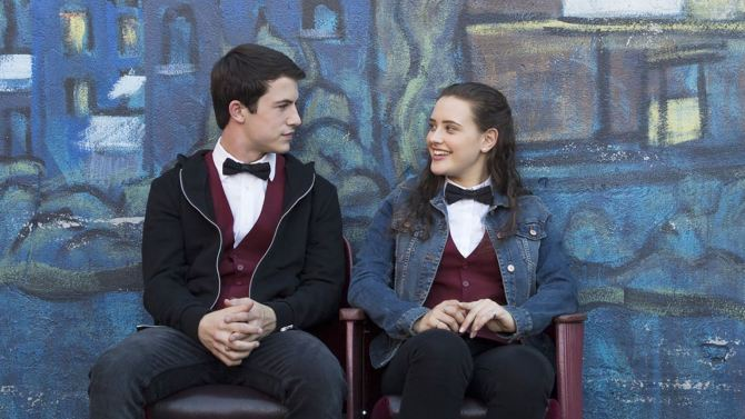 Actor Dylan Minnette (left) and Actress Katherine Langford (right) star in the latest Netflix series 13 Reasons Why. Photo: Beth Dubber/Netflix