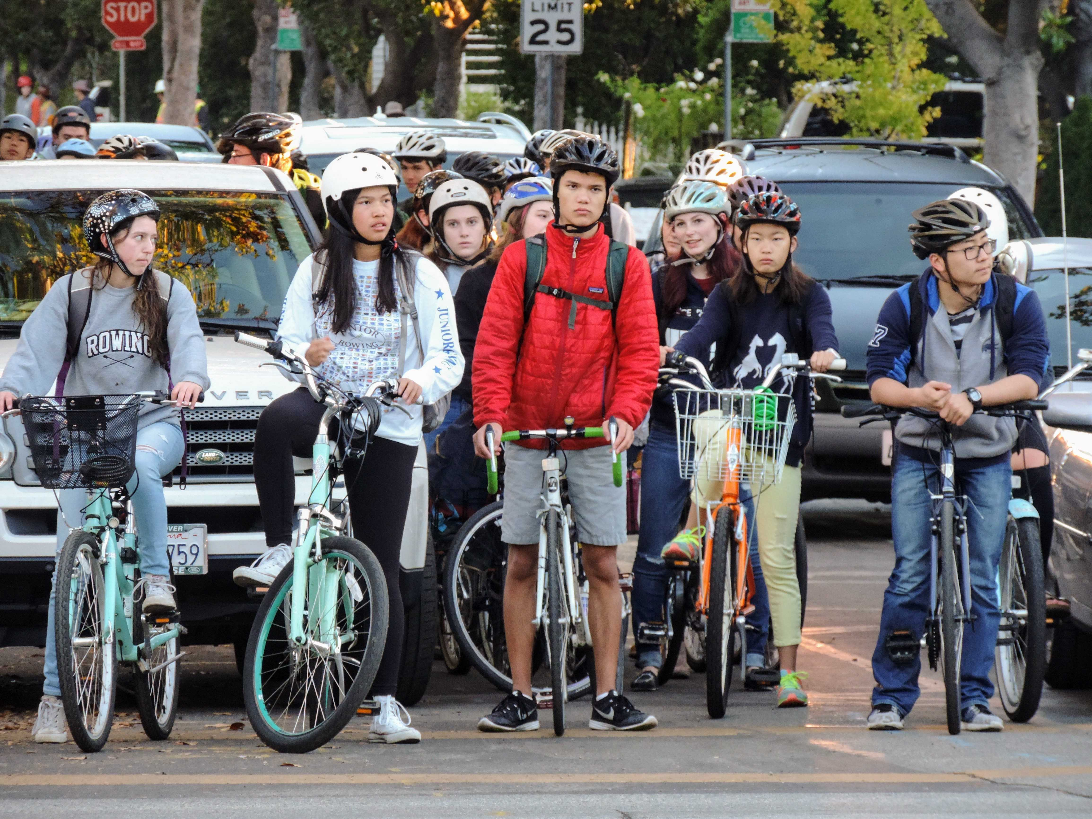 bikes on alma crossing