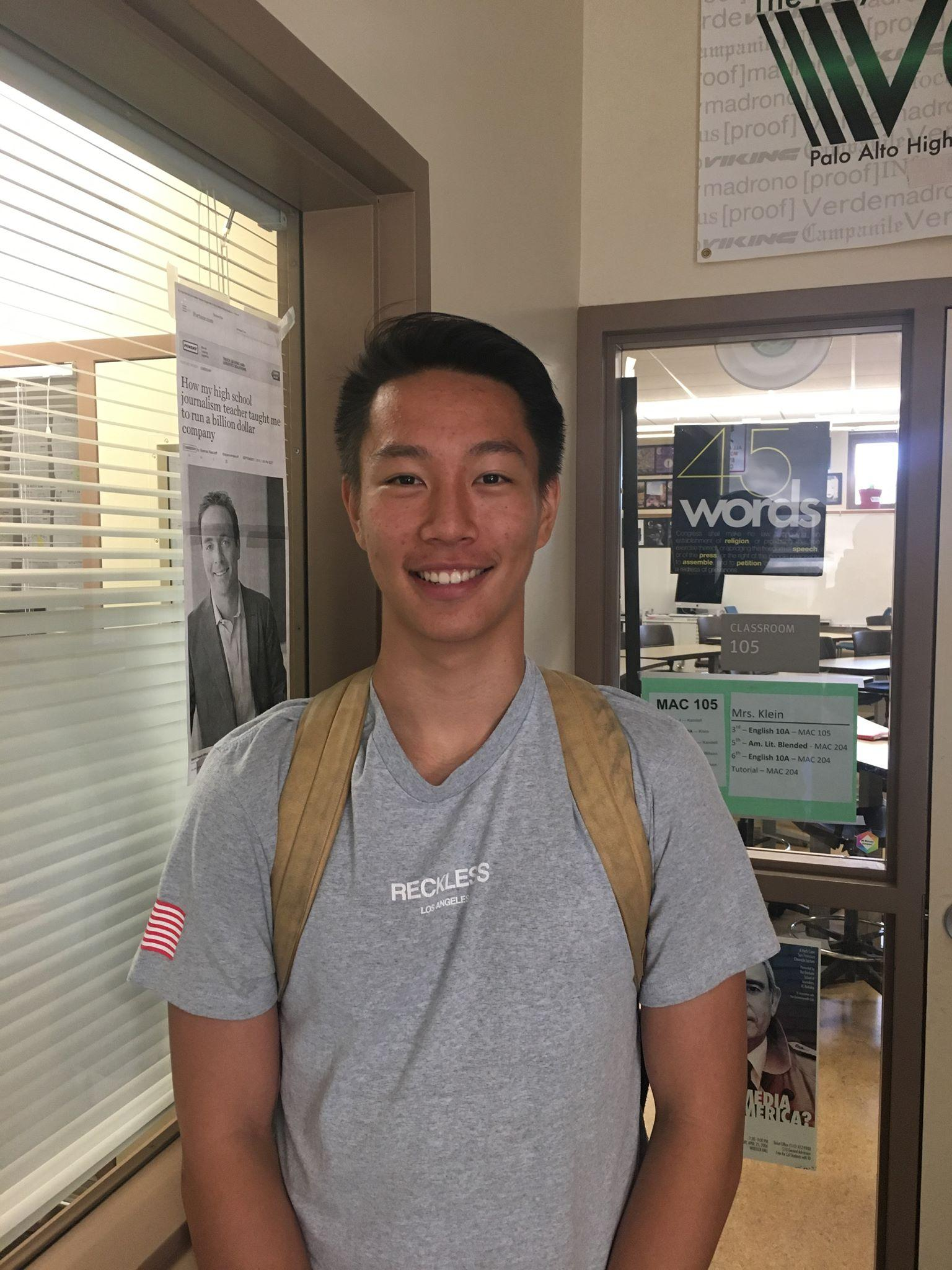 """Senior Nicholas Zhao, one of the top members of the deca club, finished 3rd place in a state accounting competition last year. He has been in the club since his freshmen year and his involvement in finance clubs outside of school have increased his interest in the subject. """"Finance's intersection with technology is what really interests and draws me in to its field,"""" said Zhao. Photo: Marvin Zou"""