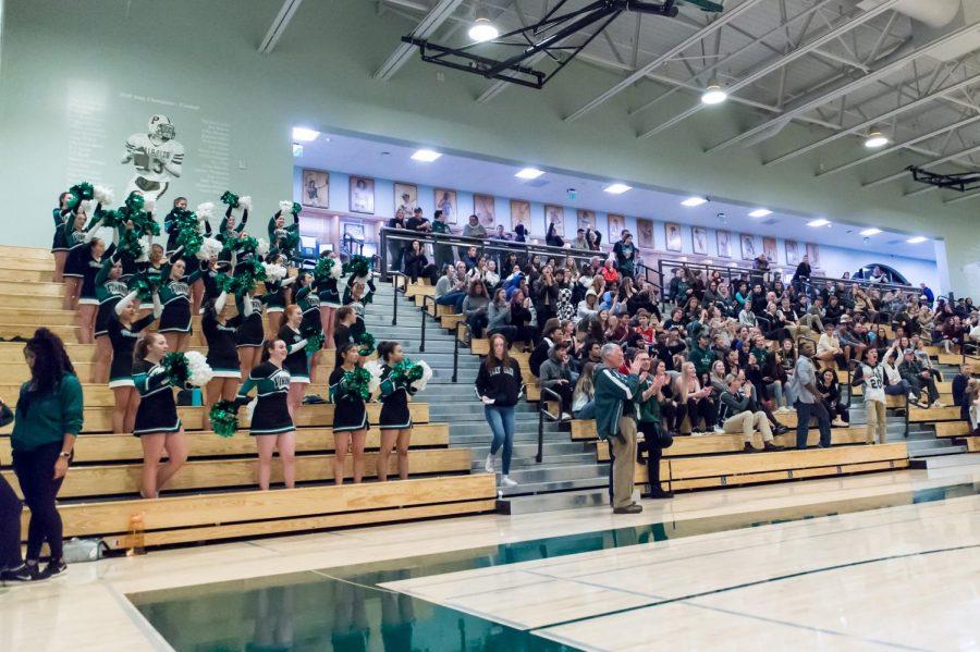 Fans+cheer+at+a+girls+varsity+basketball+game.++Photo+by+David+Hickey