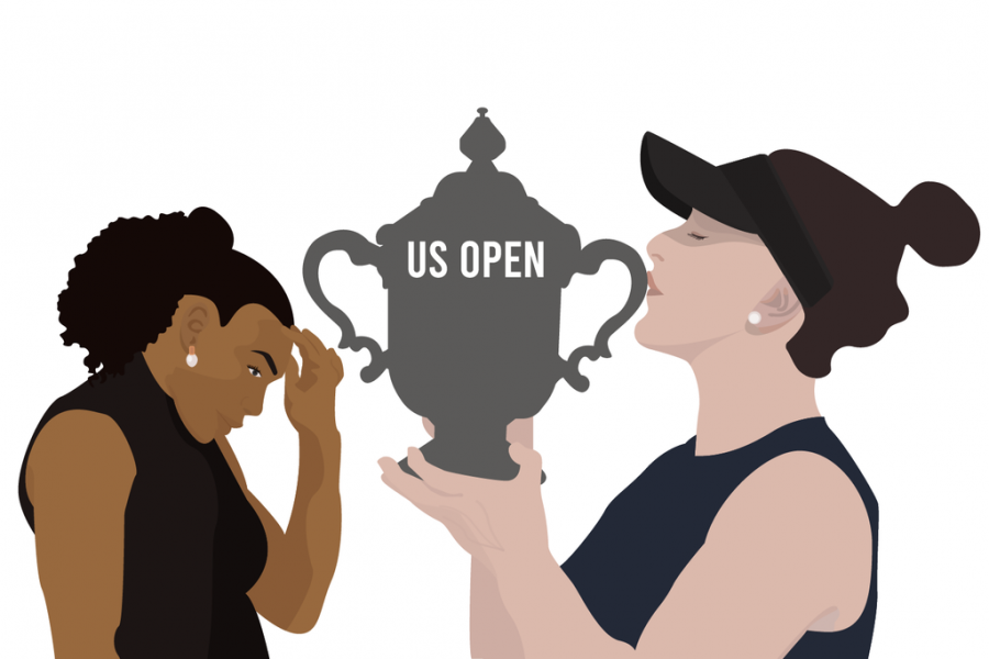 Bianca+Andreescu+kisses+the+2019+U.S.+Open+trophy+as+Serena+Williams+looks+down.+The+19-year-old+Canadian+tennis+player+shows+that+it%27s+time+for+younger+athletes+%E2%80%94+and+indeed+all+sorts+of+young+people+%E2%80%94+to+rise+and+for+the+older+ones+to+go.+Illustration%3A+Amy+Yu
