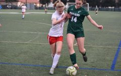 Girls' soccer takes home first conference win of season