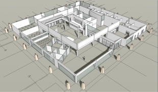 The Palo Alto High School library, depicted here in an early stage conceptual design, will feature an entirely new floor plan, with busier sections in the front and quieter study rooms in the back. Photo by DLM Architecture