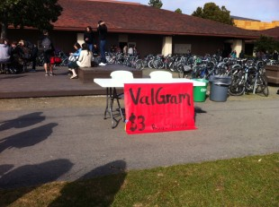 ASB set up the Valgrams table on the Quad at the beginning of lunch today. Valgrams can be purchased up until Wednesday, Feb. 13, when they will be delivered.