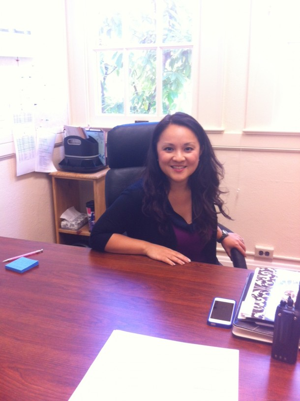 Although new Assistant Principal Victoria Kim has only been at Paly for a week, she is already hard at work accomplishing her goals for the school year. Photo by Paige Esterly.
