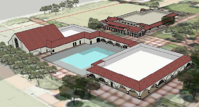 The construction on Palo Alto High School's new athletic facility will interrupt the school's pool utilities, causing the pool to be closed for the 2014-2015 school year, according to bond manager Tom Hodges. The construction was not initially meant to disrupt the pool. The facility's 14 month-long construction will begin in June. Photo by Tolbert Design Architects.