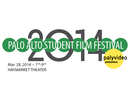 The 2014 Palo Alto Student Film Festival logo. Photo by Paly Video Productions.