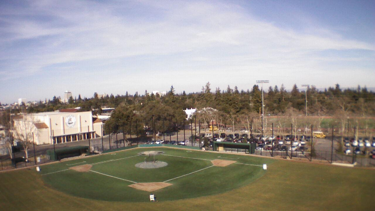 The Palo Alto High School baseball field awaits Thursday's game between Paly and Wilcox High School.  Paly defeated the Chargers 6-5 at Wilcox Tuesday.