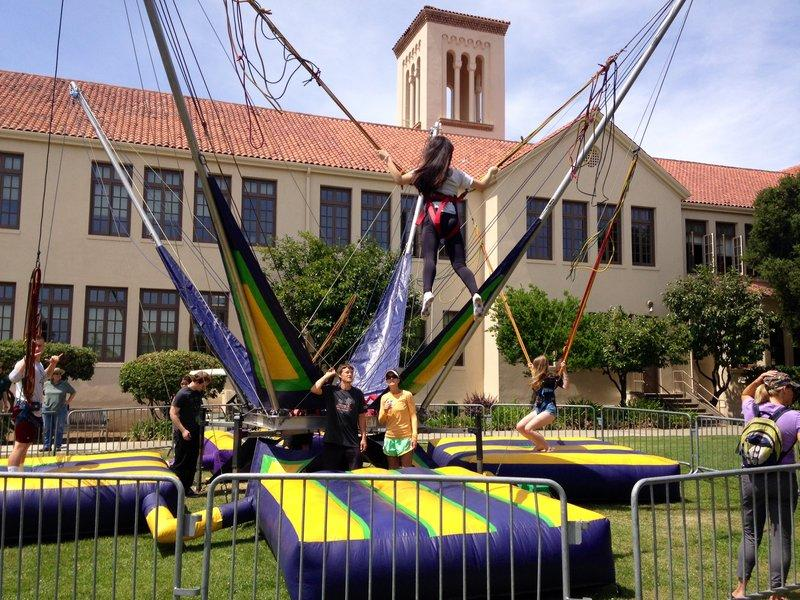 One of the many highlights of this semester was Field Day, during which bungee jumping was been offered as an activity for the first time. Photo by Amanda Carlsson.