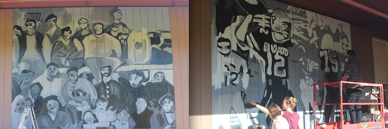 Campus is canvas for celebrity alum james franco the for Celebrity mural