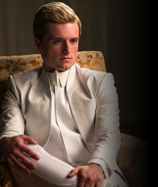 No longer the sweet baker boy we remember, Peeta returns as a pawn for the capitol. President Snow tortures him until he voices anti-rebellion sentiments in to all of Panem.