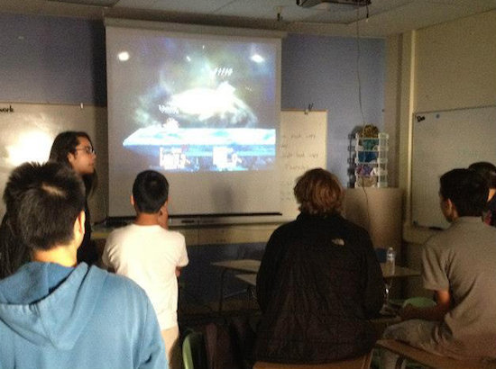 Smash Bros club members practice their skills during their lunchtime club  meetings. Photo by William Zhou
