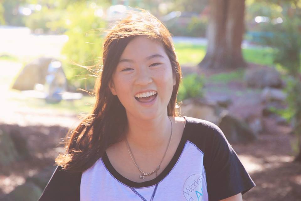 Chan is co-president and founder of Works of Art, a student-run club that uses art to address important issues. Photo by Tiffany Tsay