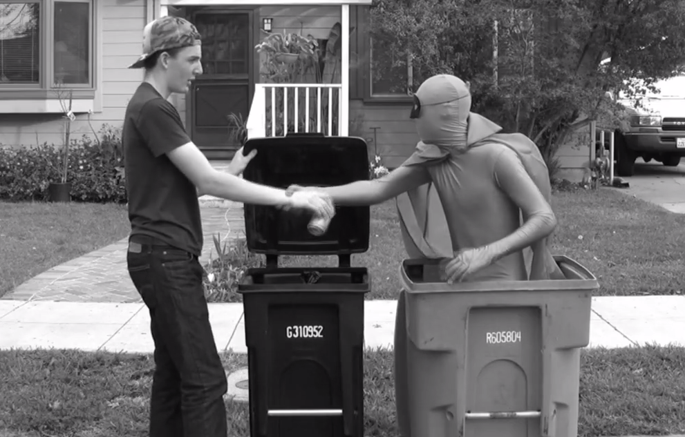 "Sophomore Jack Brook's film entitled ""Eco Man"" features a superhero that encourages people to engage in ecologically-friendly practices, such as recycling. ""Eco Man"" is one of the three student films that will be screened at the 2015 Cinequest Film Festival. Photo courtesy of Paly Video Production."